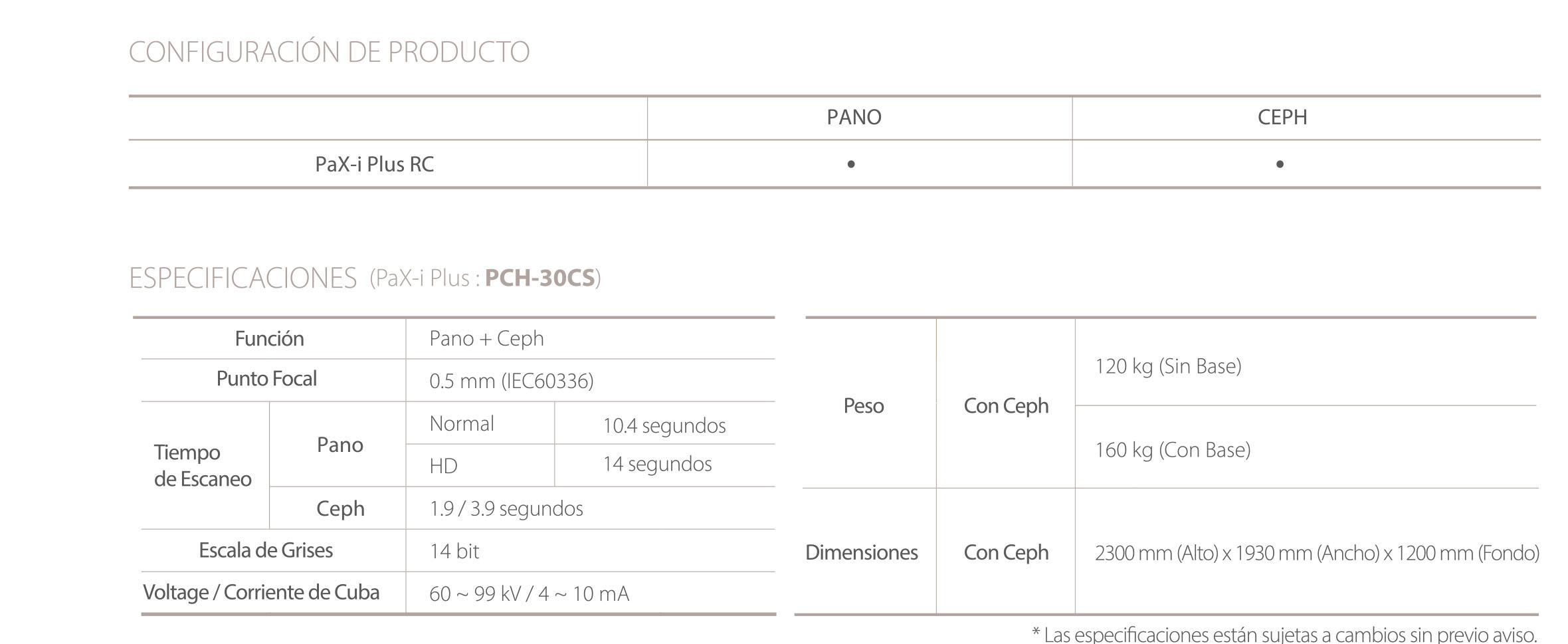 Rayos X dental precio panorámico Pax-i Plus de Vatech especificaciones