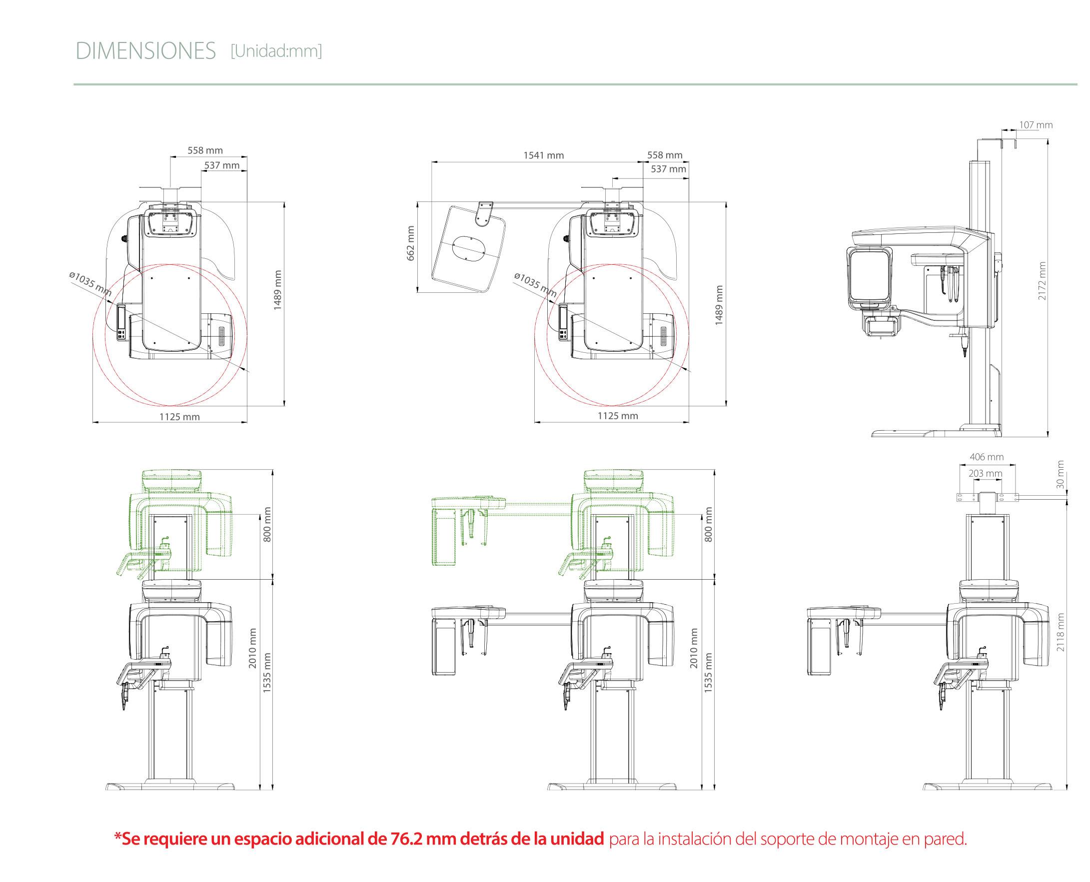Rayos X dental precio Green 16/18 de vatech dimensiones