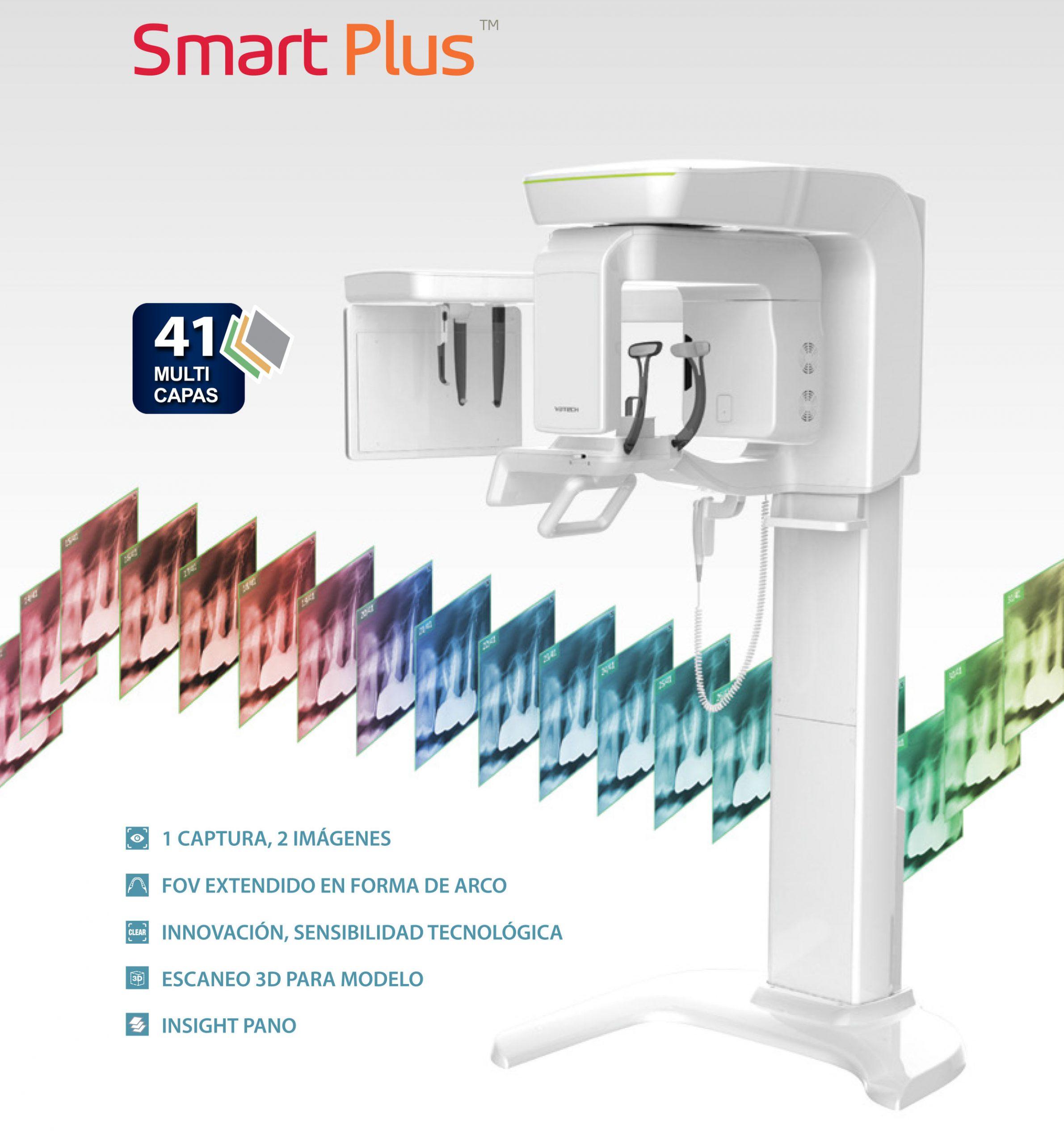 Rayos X dental panorámico 3D y 2D Smart Plus 3D de Vatech