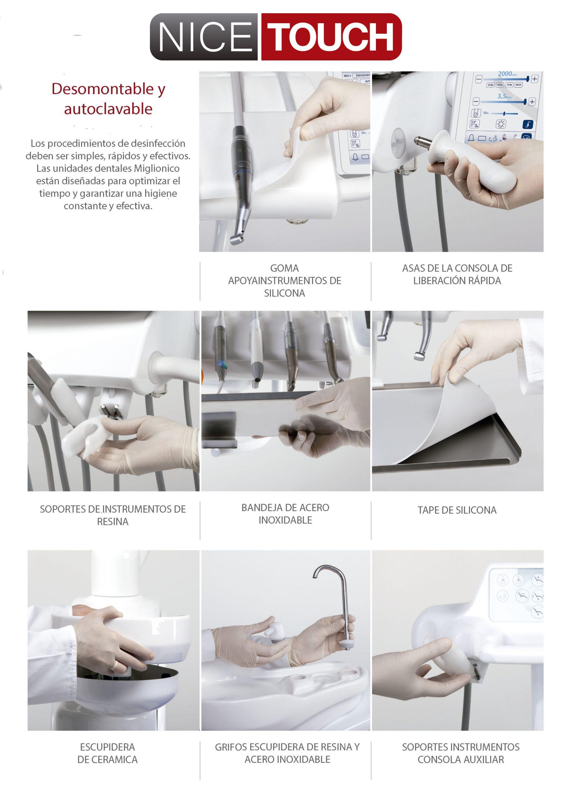 La calidad en sus detalles Miglionico Nice Touch
