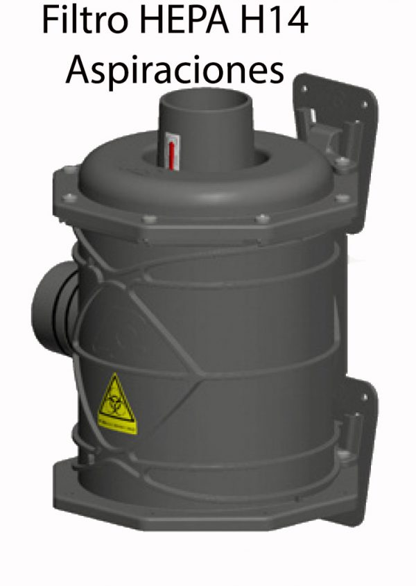 Evitar contaminación cruzada compresor con Filtro Hepa H14 Aspiración