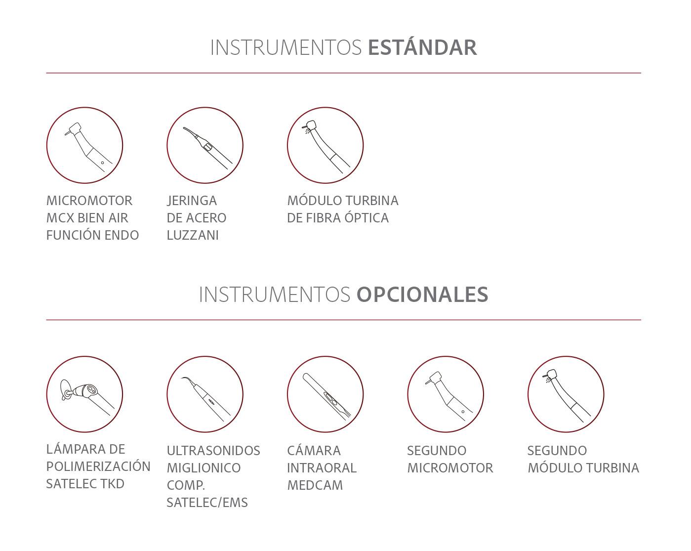 Instrumentos standar para Nice Touch