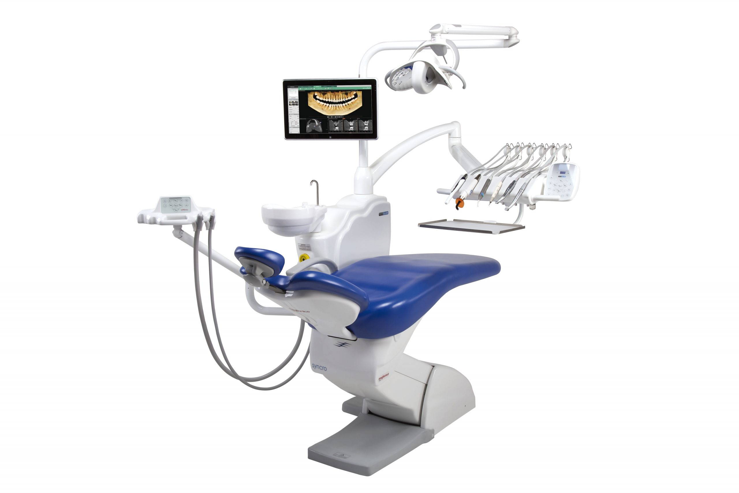 Sillón dental Miglionico Nice Glass + Vatech