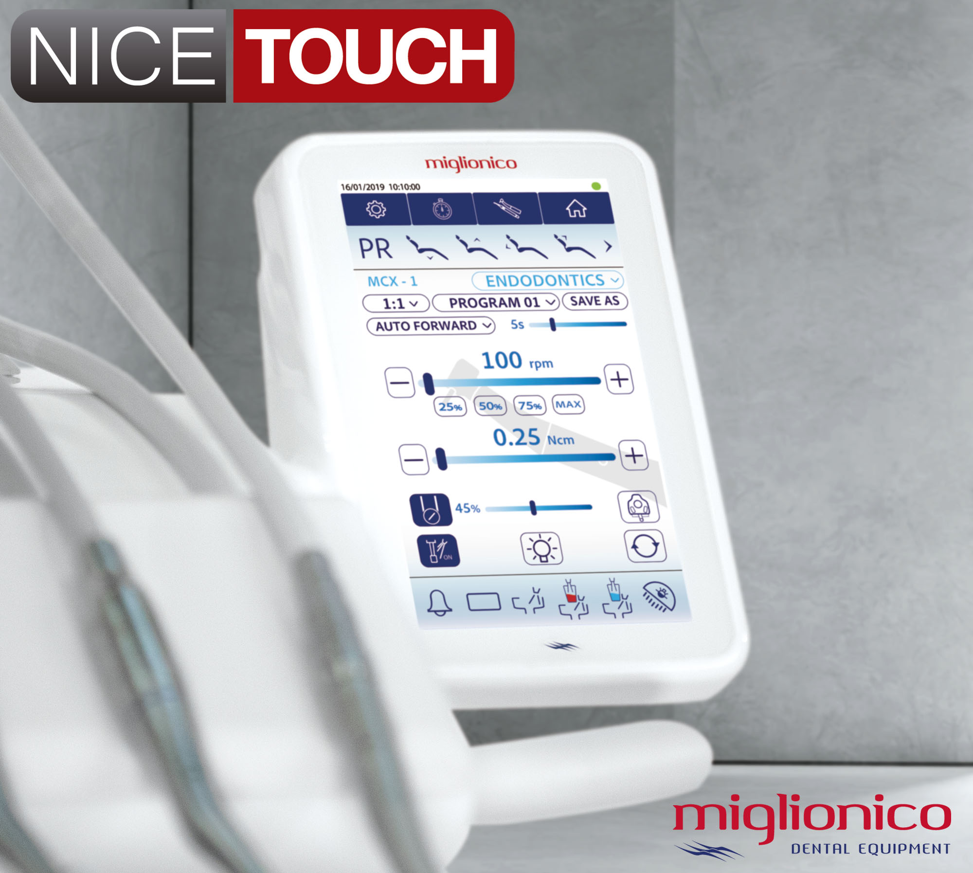 Pantalla Digital 7 pulgadas a todo color Miglionico Nice Touch