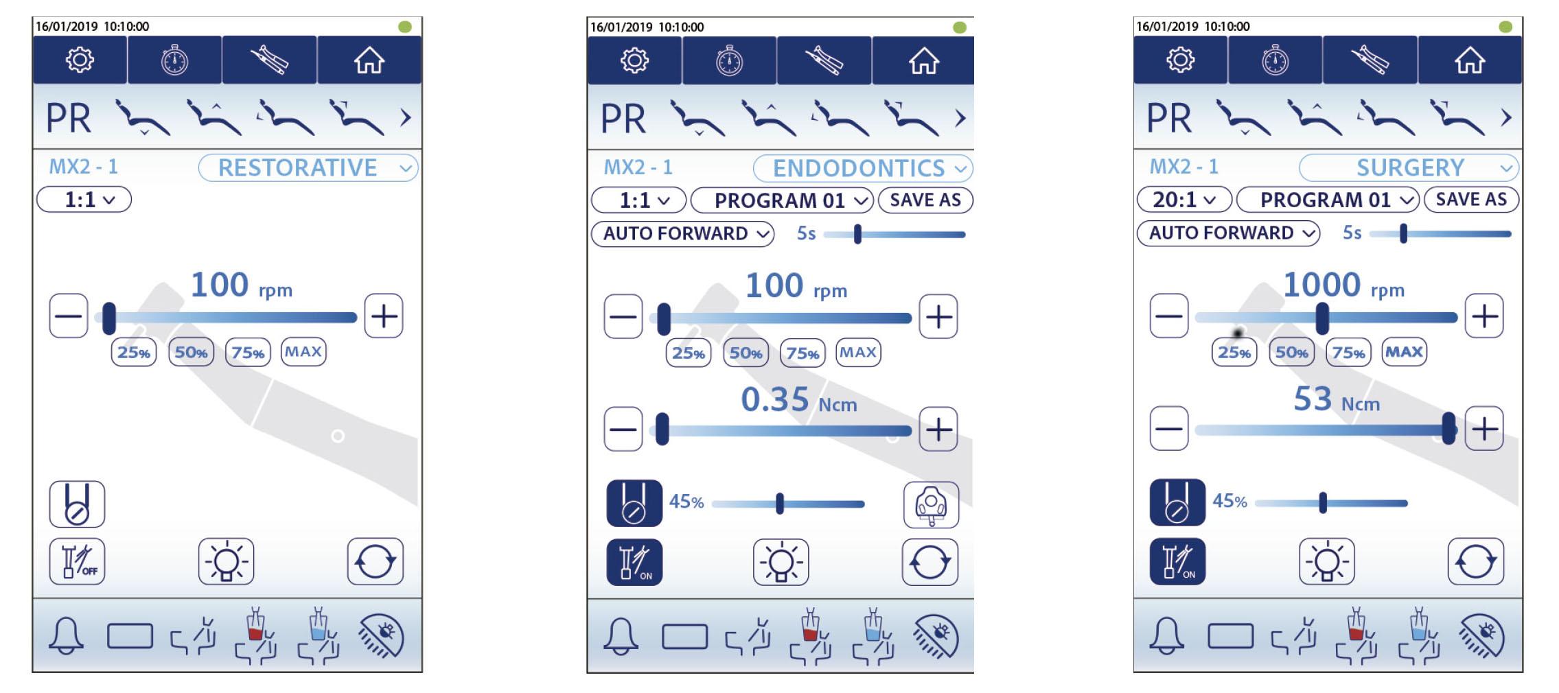 Pantalla Digital Ajustes Micro-motor MX2 Miglionico Nice Touch