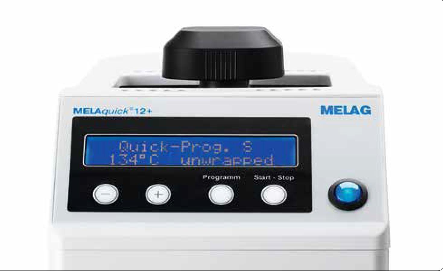 Autoclave Esterilizador rápido especifico rotatorio Melaquick 12+